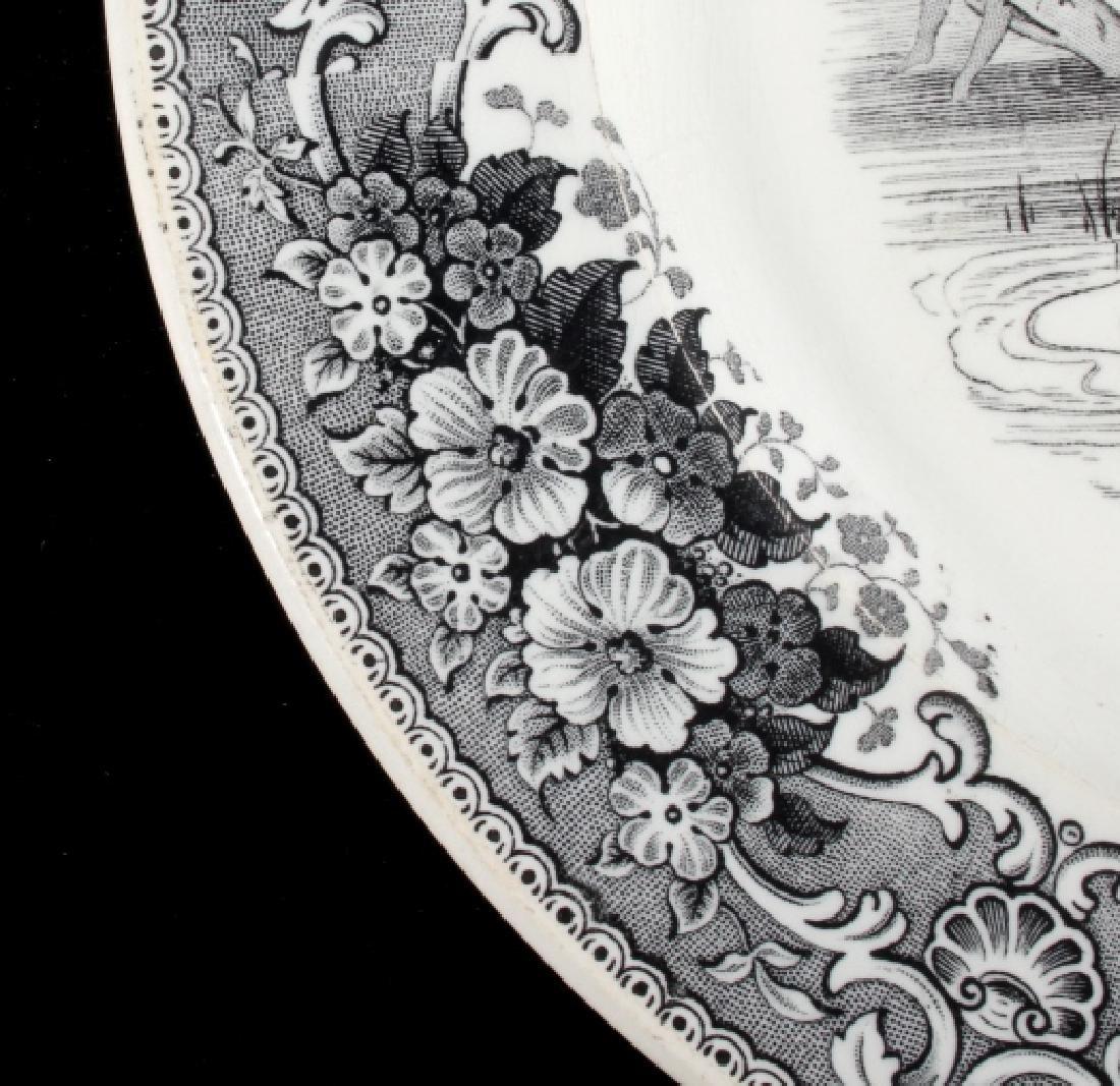 Gold Rush LeBeuf & Milliet Transferware Plate 1850 - 6