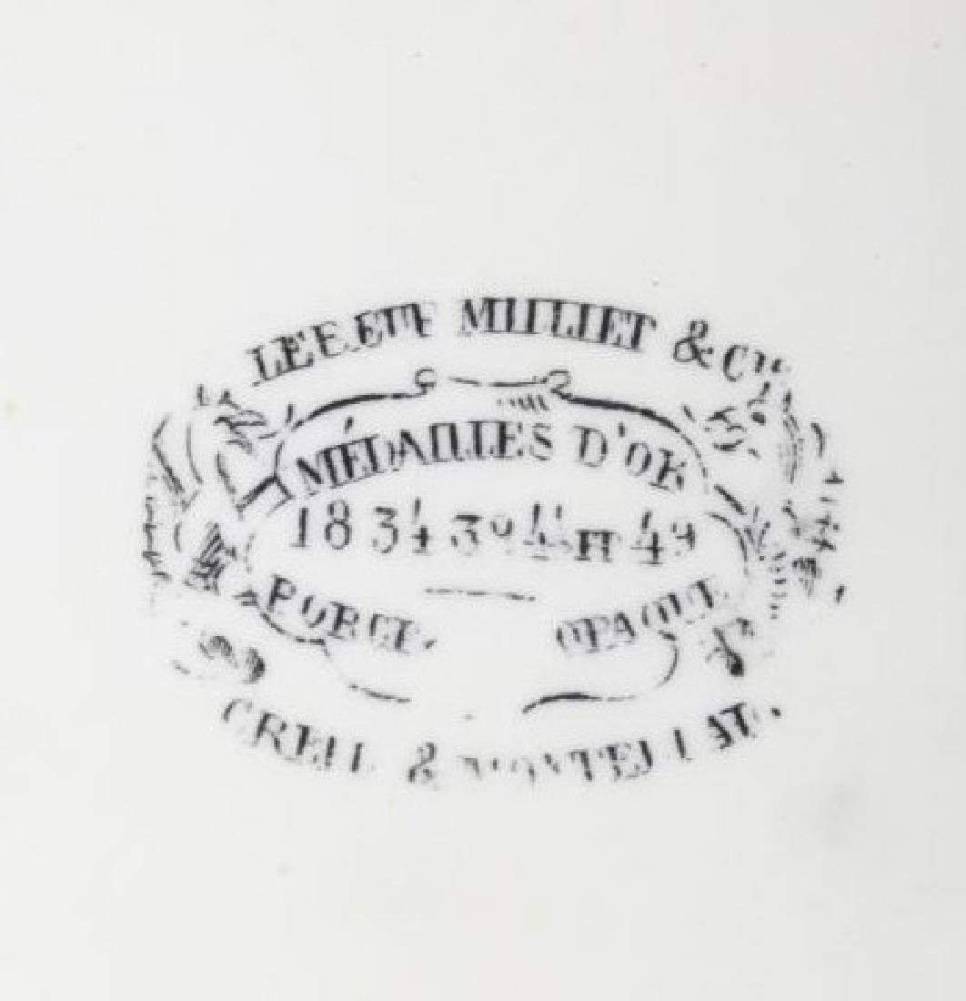 Gold Rush LeBeuf & Milliet Transferware Plate 1850 - 9