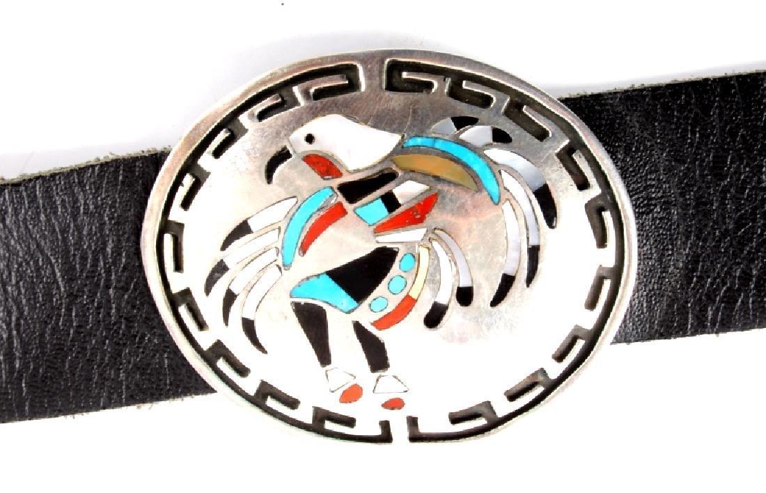 Navajo Sterling Silver Eagle Kachina Concho Belt - 9