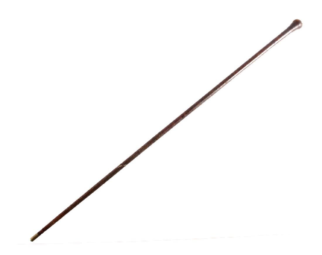 Antique Civil War Stacked Leather Plantation Cane