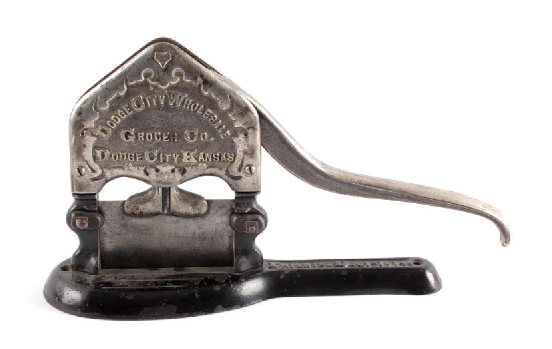 Antique Dodge City Kansas Tobacco Cutter
