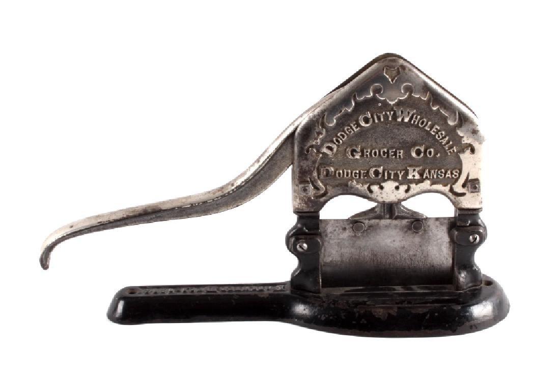 Antique Dodge City Kansas Tobacco Cutter - 2