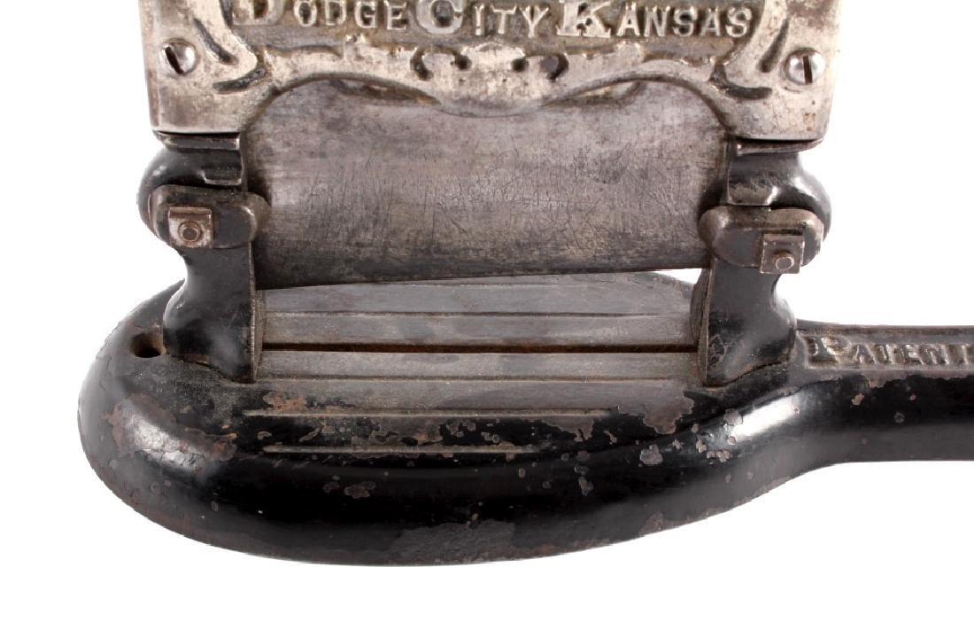 Antique Dodge City Kansas Tobacco Cutter - 8
