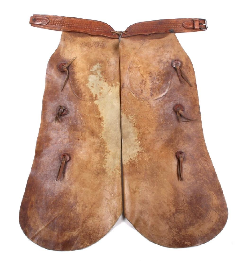 H.H. Heiser Leather Batwing Chaps