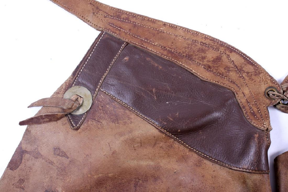 Al Furstnow Leather Chaps Miles City, Montana - 4