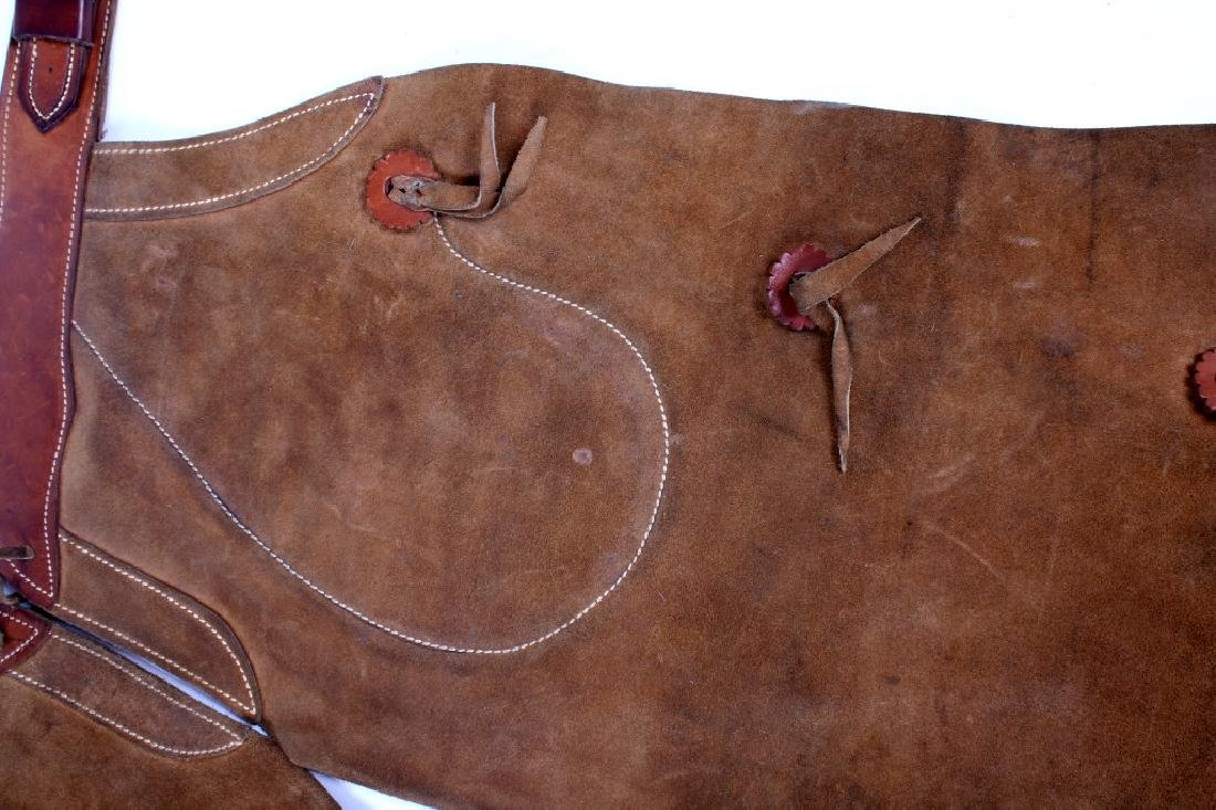 H.H. Heiser Suede Leather Batwing Chaps - 4
