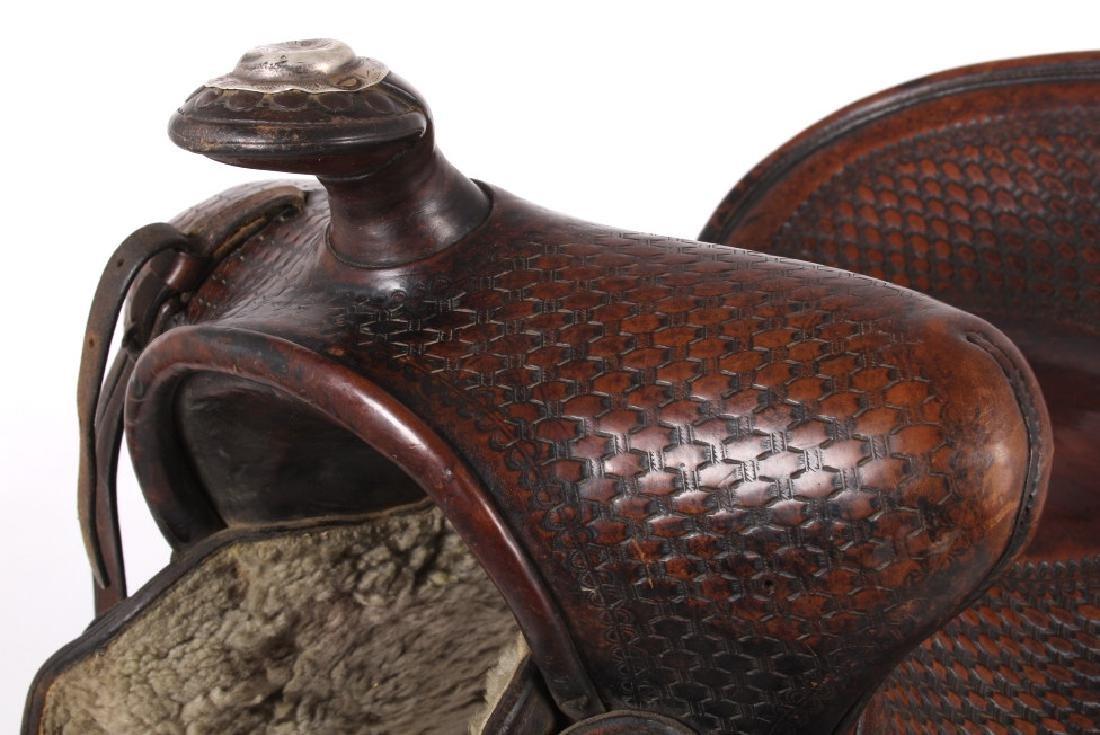 Texas Tanning & MFG Co. Custom Fully Tooled Saddle - 10