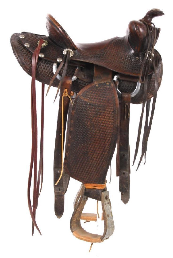 Texas Tanning & MFG Co. Custom Fully Tooled Saddle