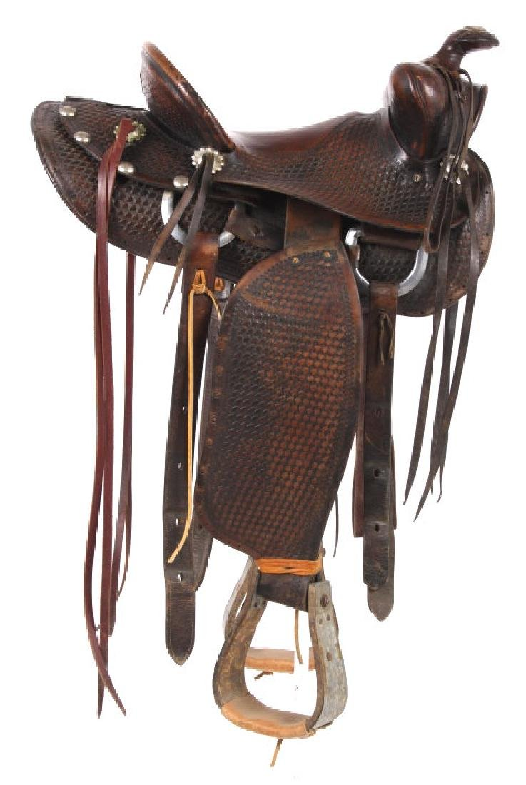 Texas Tanning & MFG Co. Custom Fully Tooled Saddle