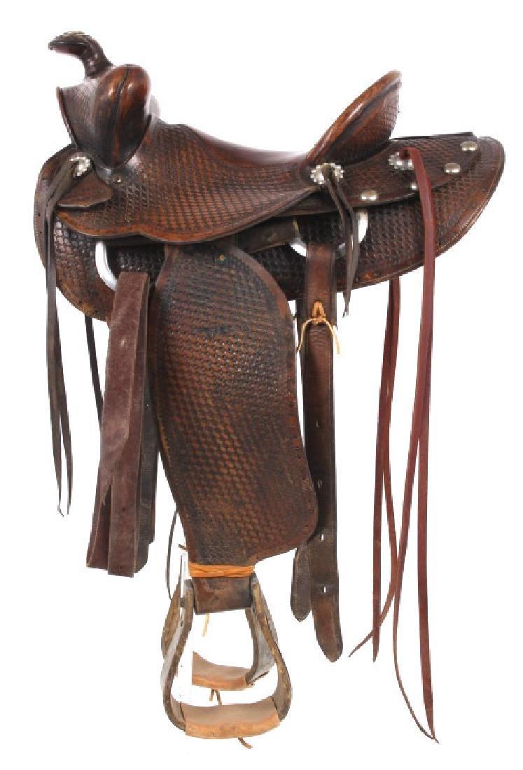 Texas Tanning & MFG Co. Custom Fully Tooled Saddle - 3