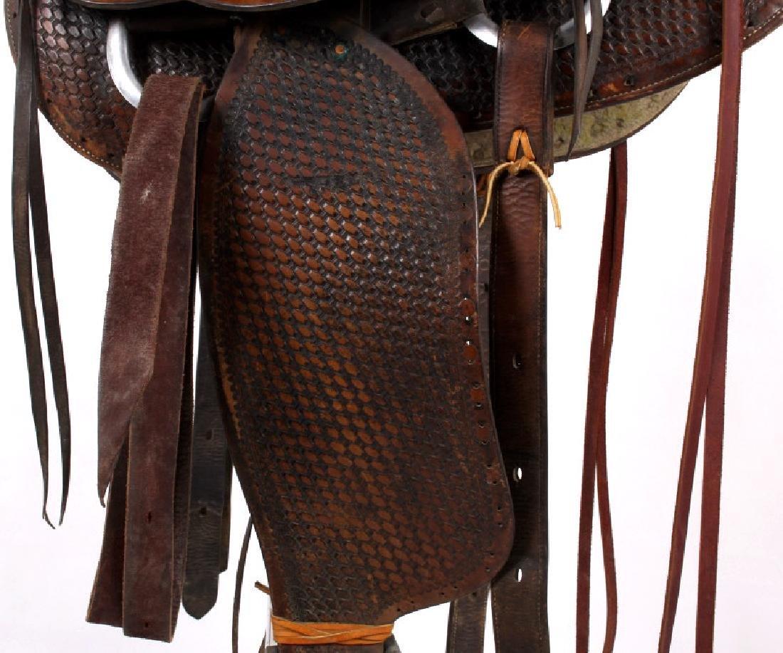 Texas Tanning & MFG Co. Custom Fully Tooled Saddle - 4