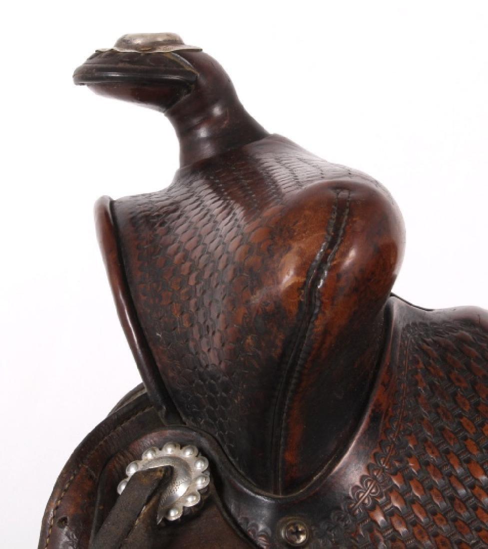 Texas Tanning & MFG Co. Custom Fully Tooled Saddle - 6
