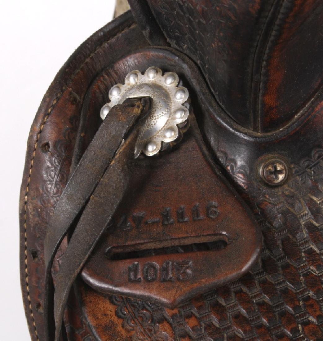 Texas Tanning & MFG Co. Custom Fully Tooled Saddle - 7