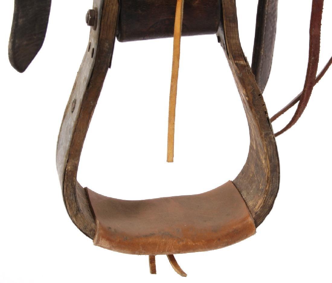 Texas Tanning & MFG Co. Custom Fully Tooled Saddle - 8