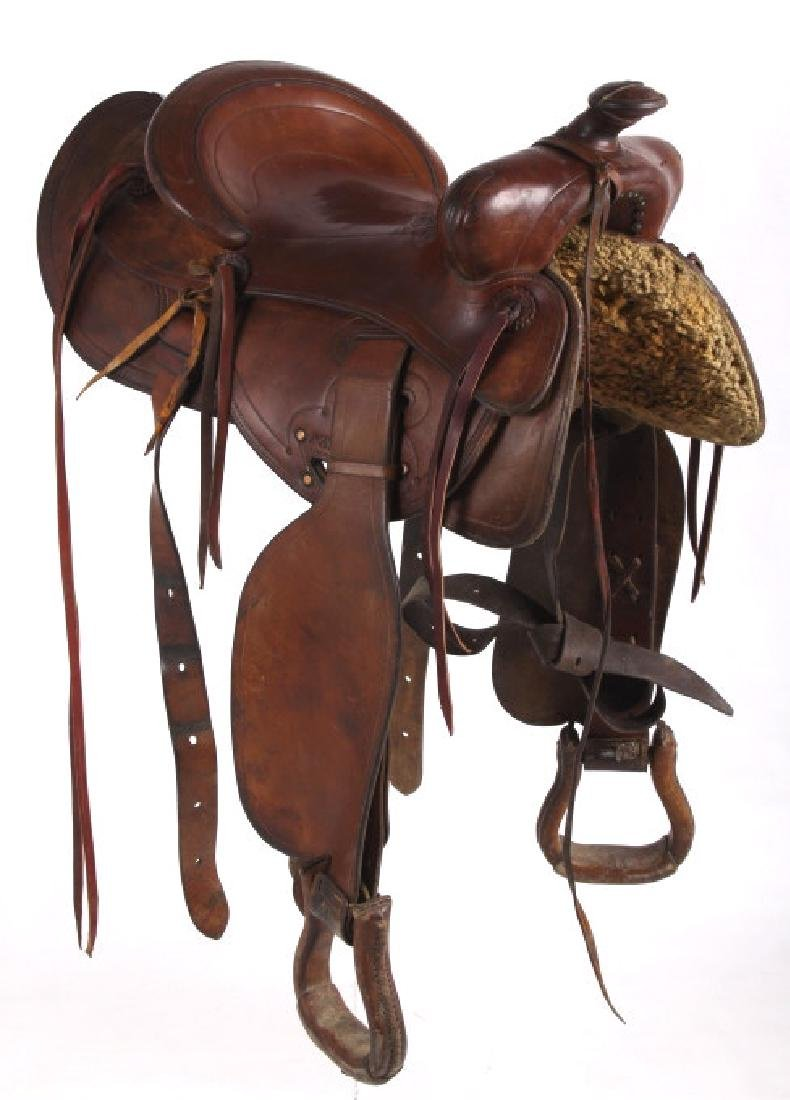 Jack Connolly Livingston, MT Custom Saddle c.1929- - 3