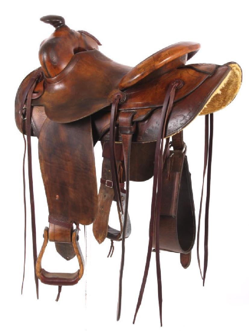 Pat Connolly Billings, MT Western Style Saddle - 4