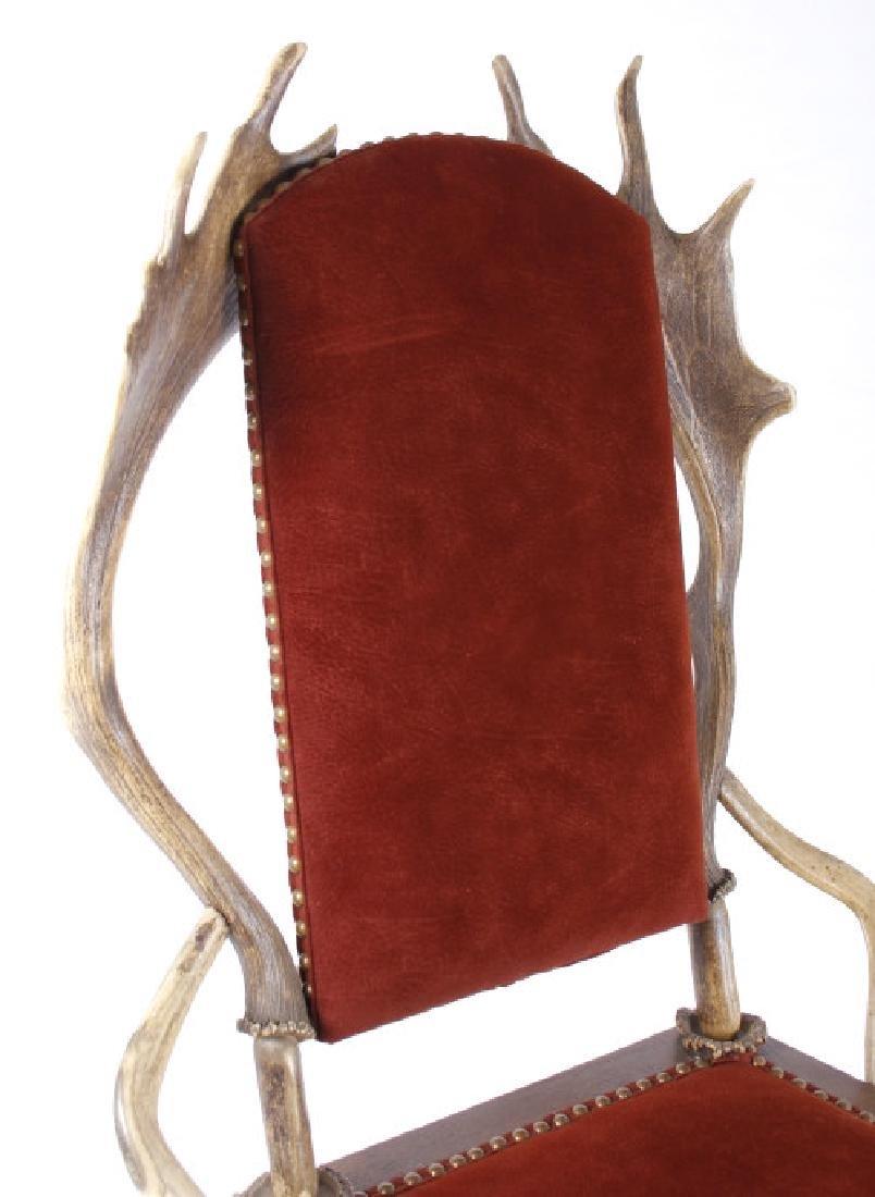 German Fallow & Stag Deer Antler Chair c.1890-1920 - 2