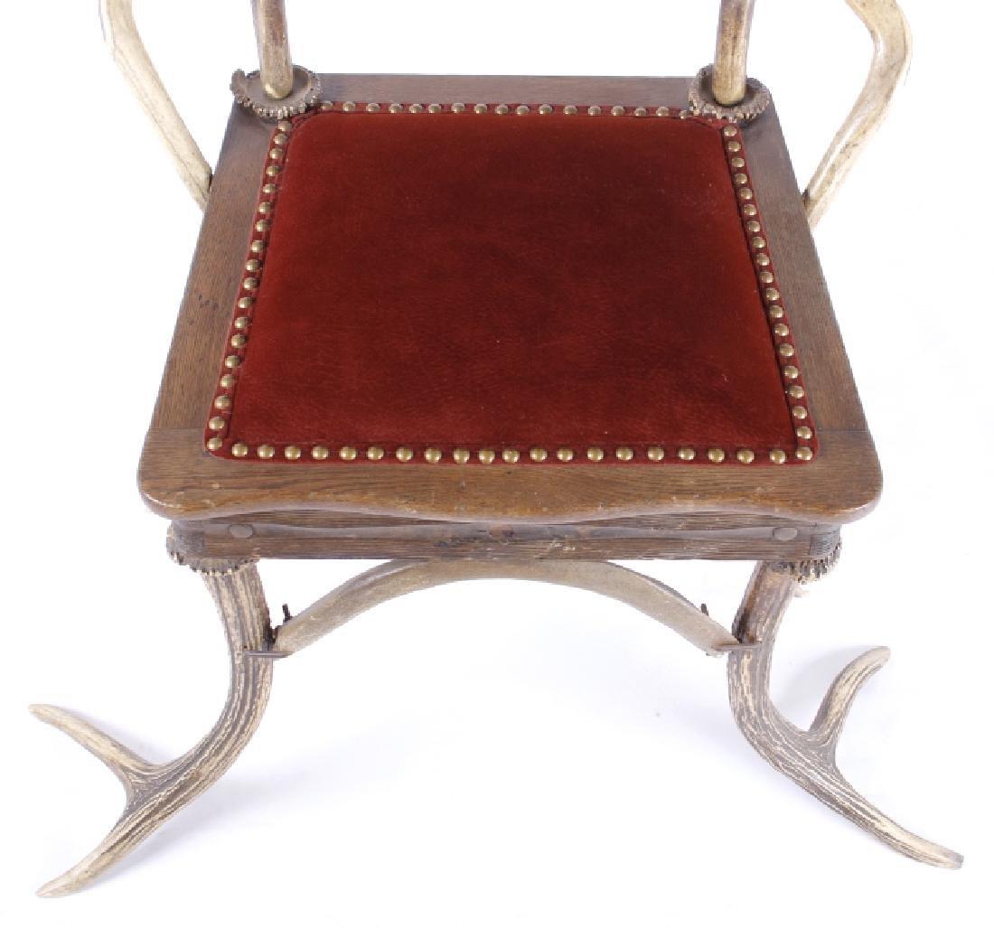 German Fallow & Stag Deer Antler Chair c.1890-1920 - 3