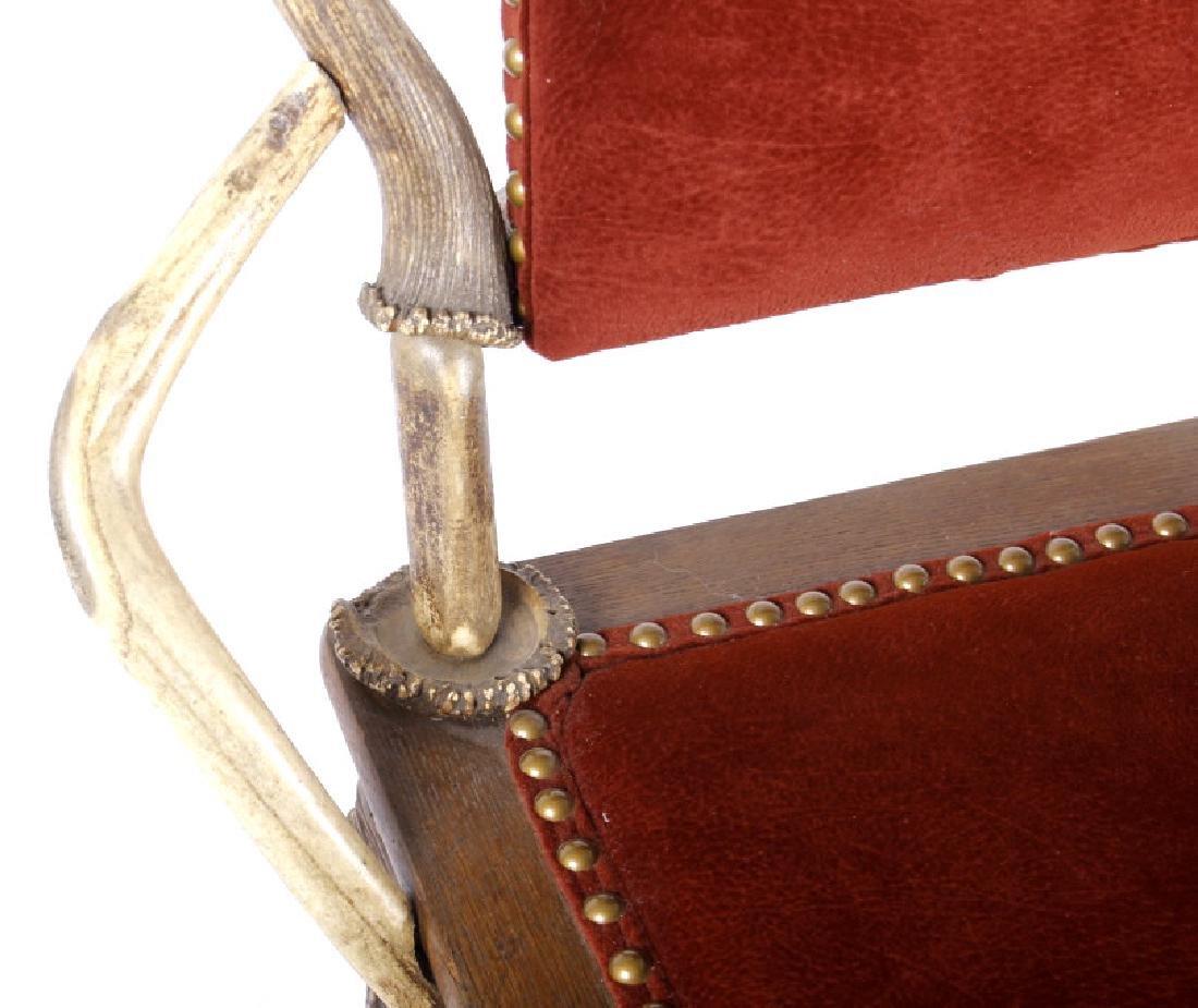 German Fallow & Stag Deer Antler Chair c.1890-1920 - 4