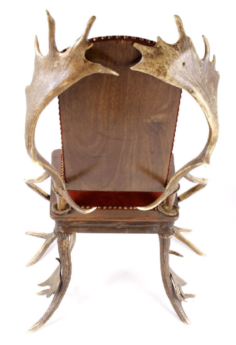 German Fallow & Stag Deer Antler Chair c.1890-1920 - 6