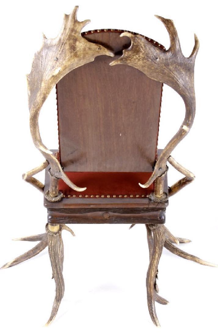 German Fallow & Stag Deer Antler Chair c.1890-1920 - 7