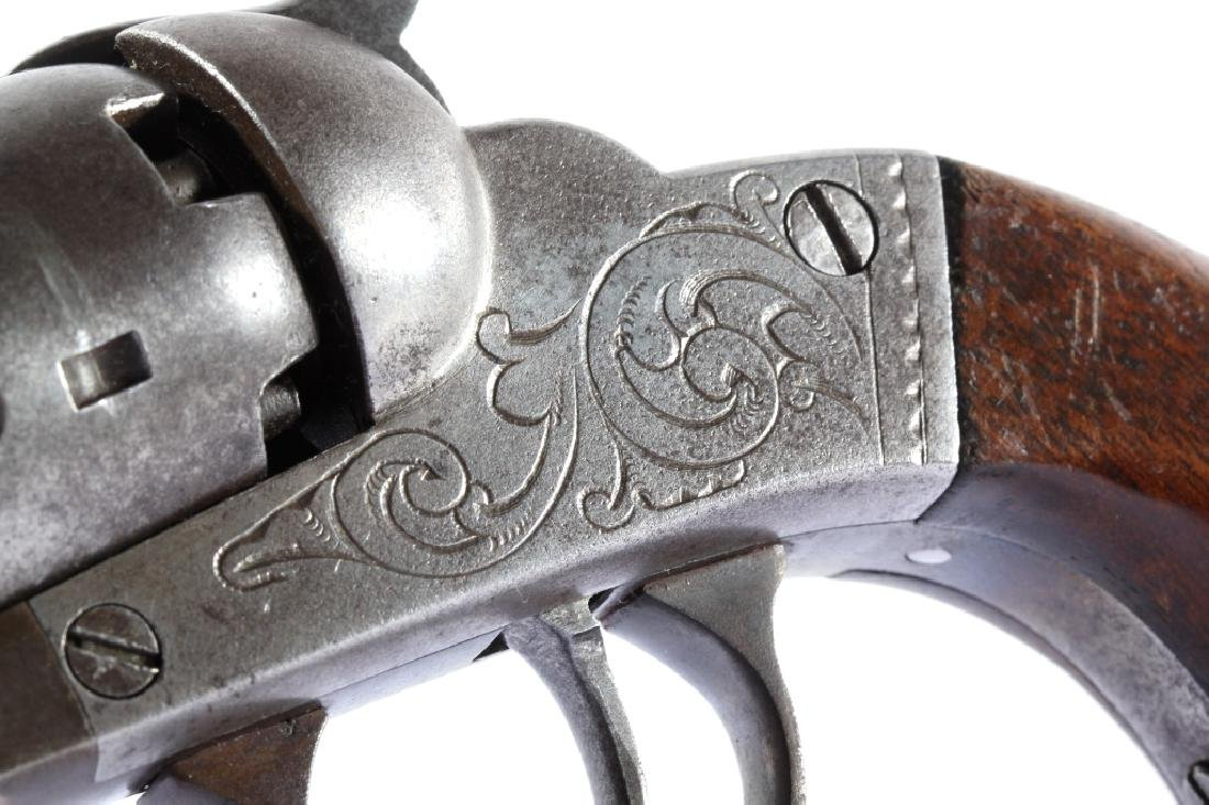 Bacon MFG Co. Engraved .31Cal Percussion Revolver - 10