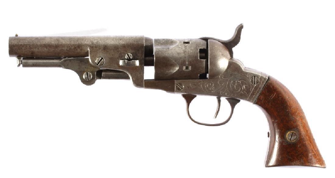 Bacon MFG Co. Engraved .31Cal Percussion Revolver