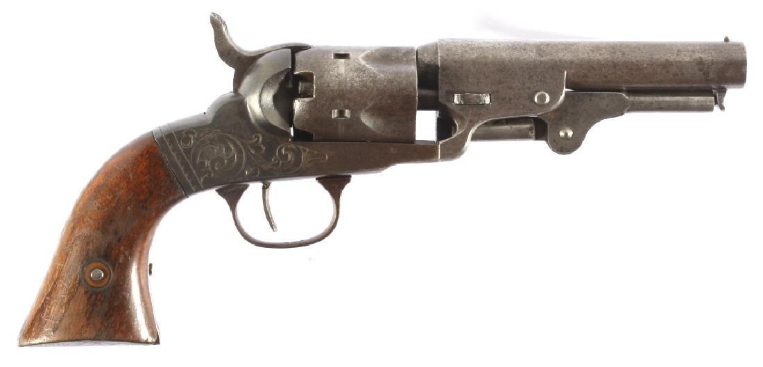 Bacon MFG Co. Engraved .31Cal Percussion Revolver - 3