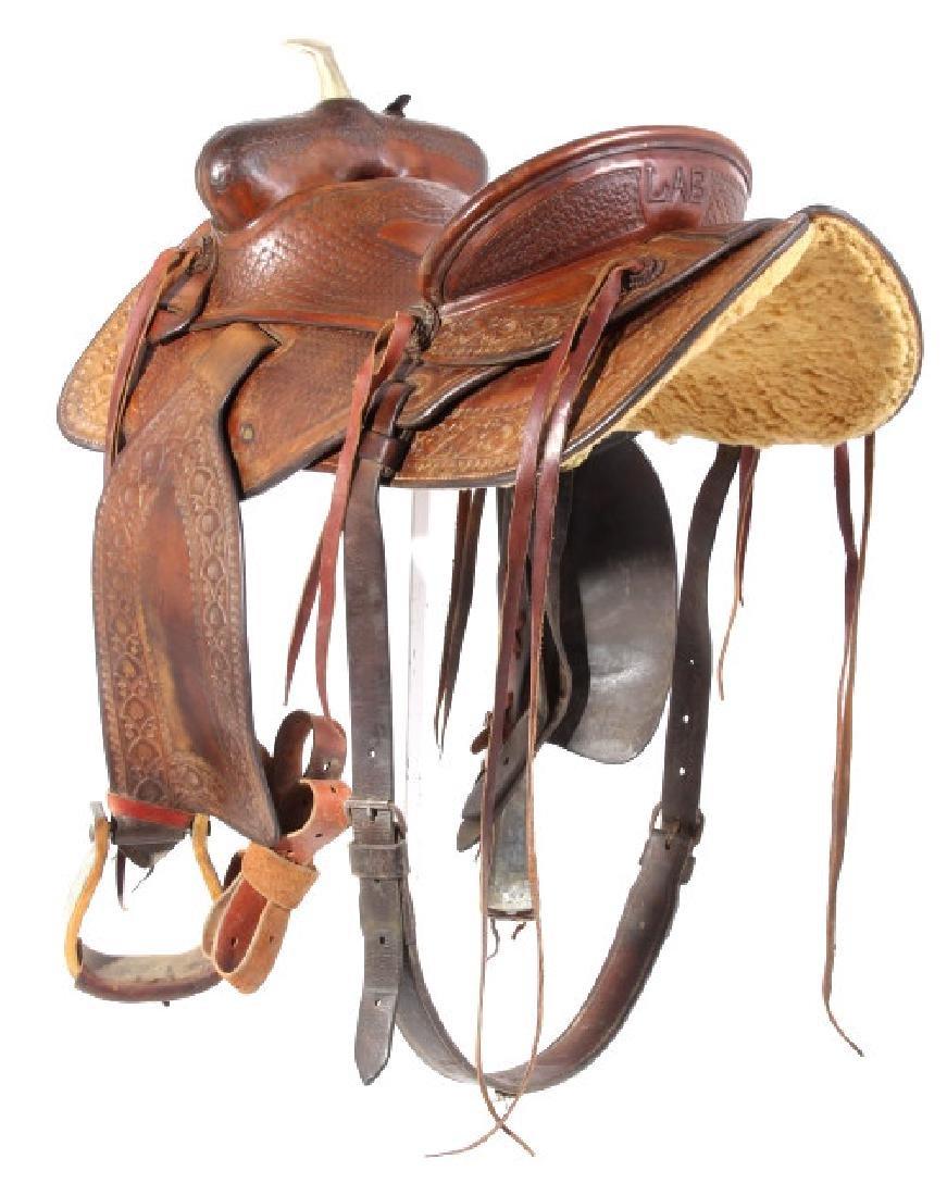 Jack Connolly Livingston, MT Custom Saddle c.1929- - 2