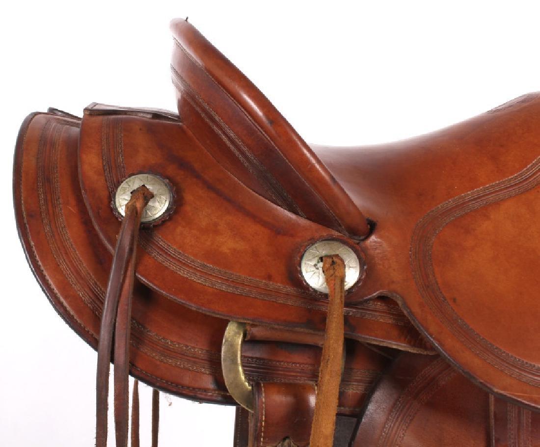H.H. Heiser Fine Tooled Western Style Saddle - 7