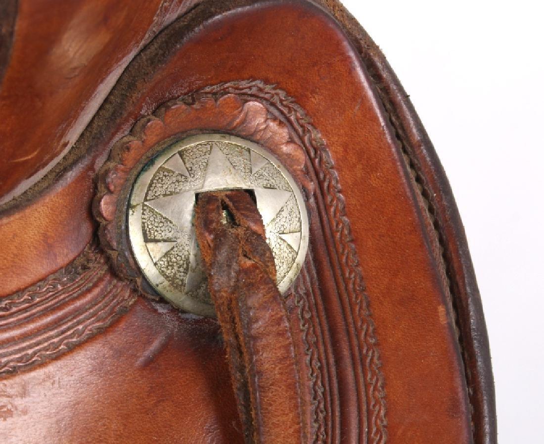 H.H. Heiser Fine Tooled Western Style Saddle - 8