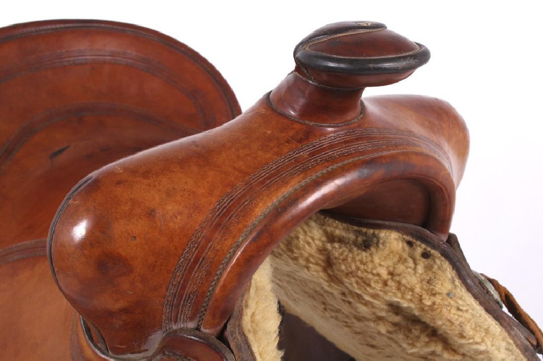 H.H. Heiser Fine Tooled Western Style Saddle - 9