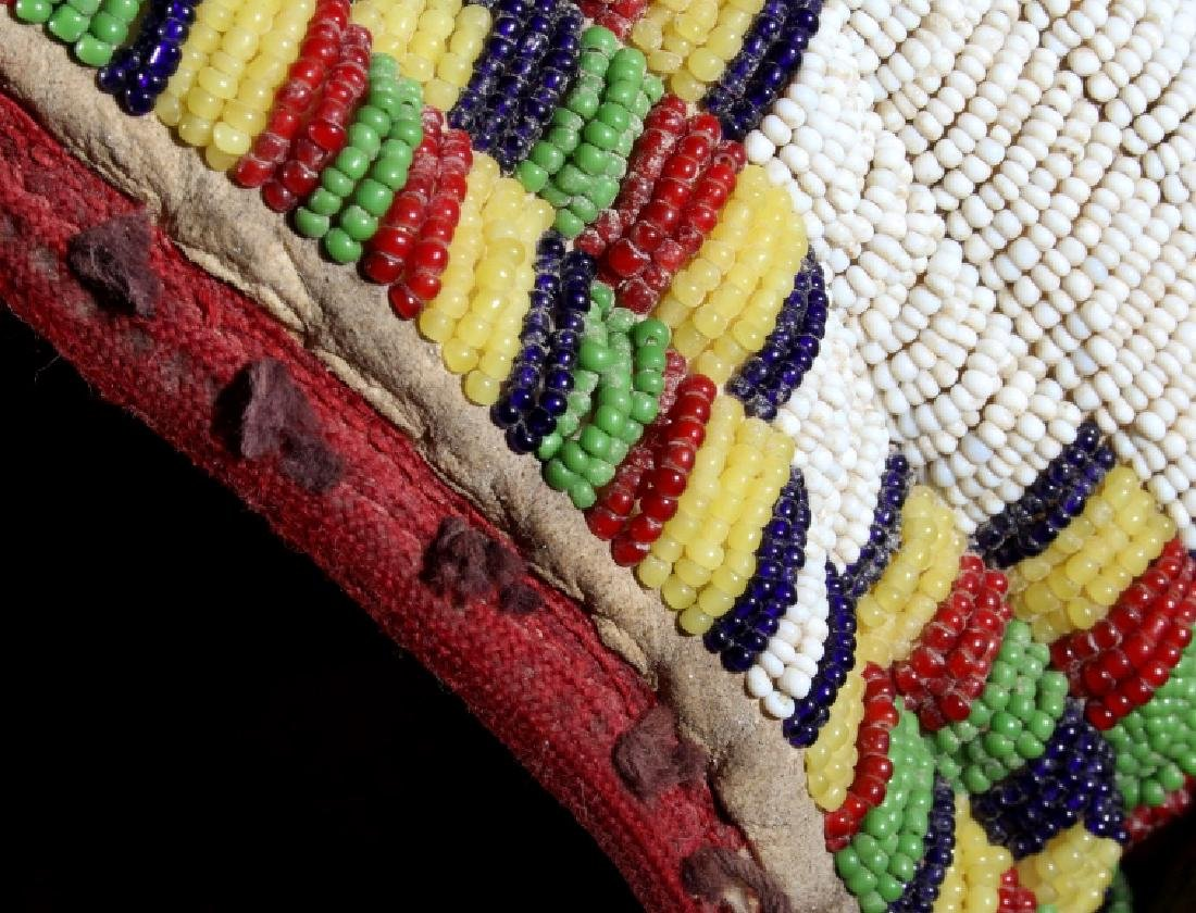 Assiniboine Beaded Pronghorn Headdress 19th C. - 4