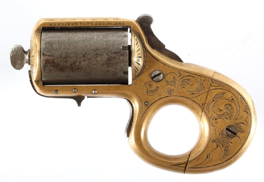 J. Reid .22 Cal Combination Knuckleduster Revolver