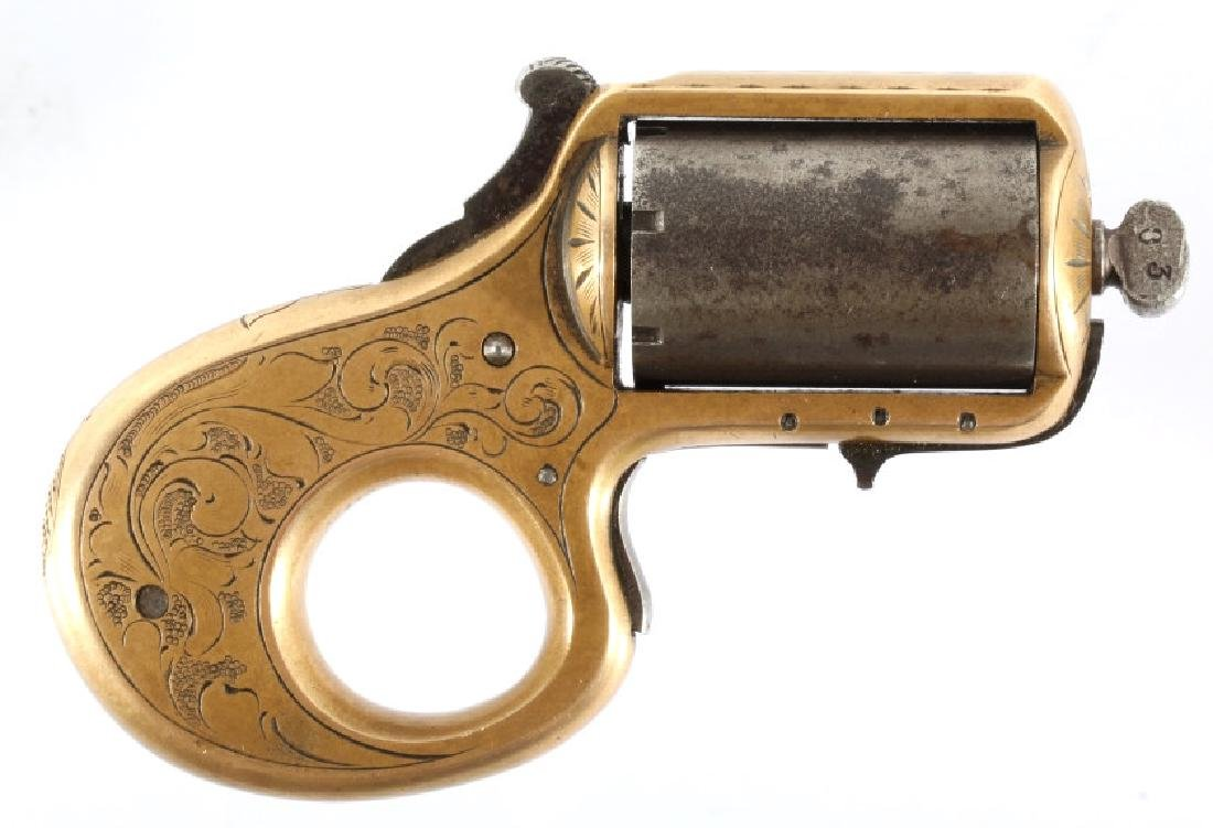 J. Reid .22 Cal Combination Knuckleduster Revolver - 2
