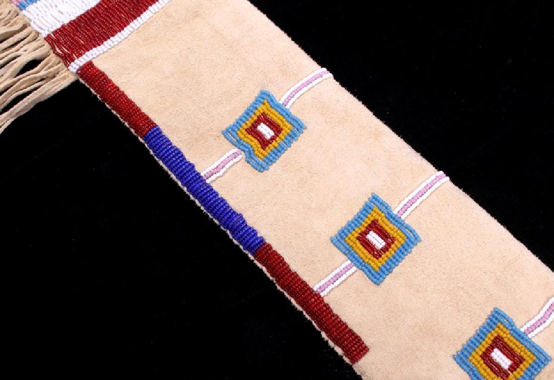 Lakota Sioux Fully Beaded Rifle Scabbard EXCELLENT - 4