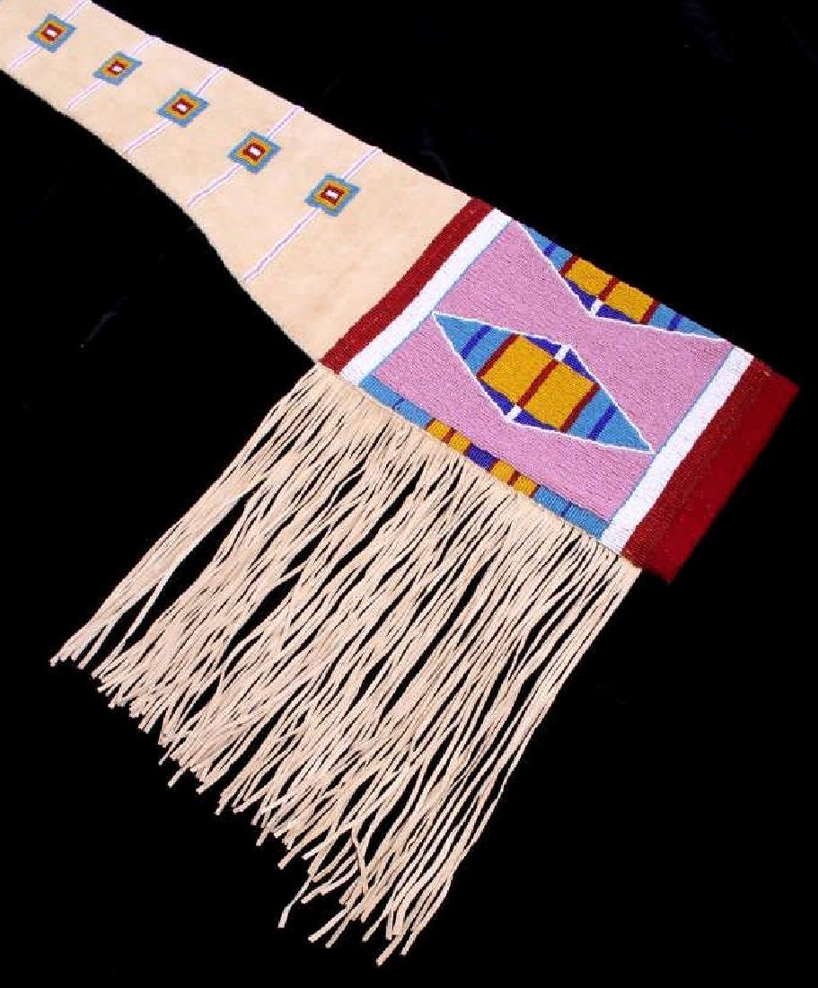 Lakota Sioux Fully Beaded Rifle Scabbard EXCELLENT - 6