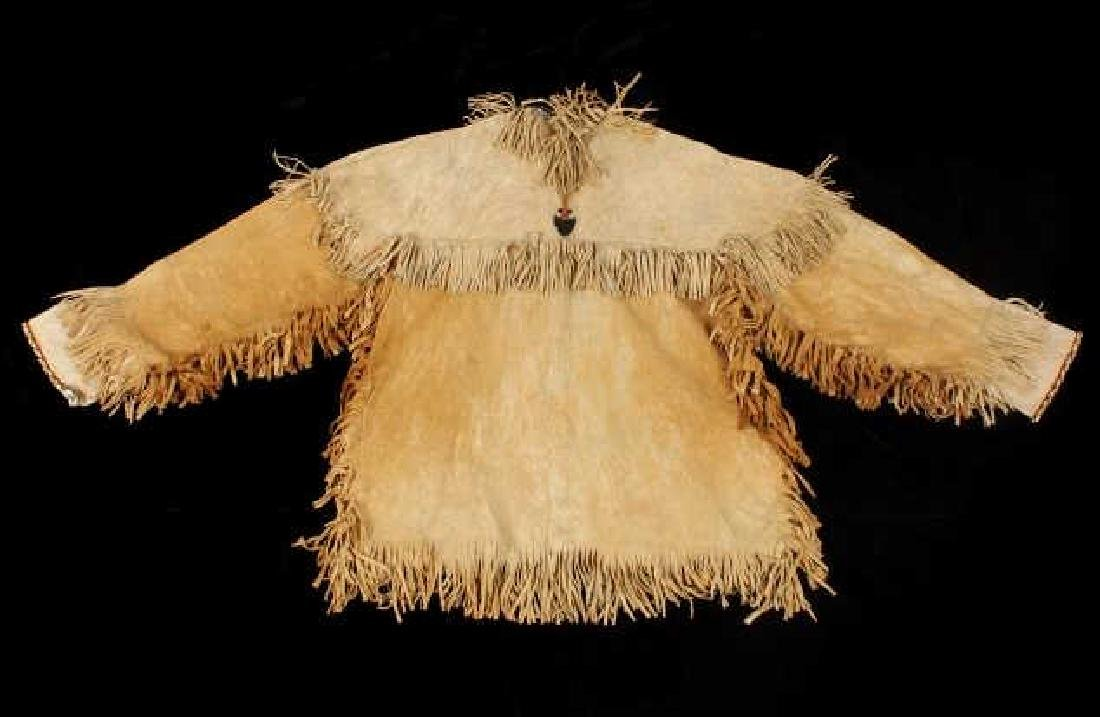 Sioux Indian Beaded Tanned Hide Scout Shirt - 10