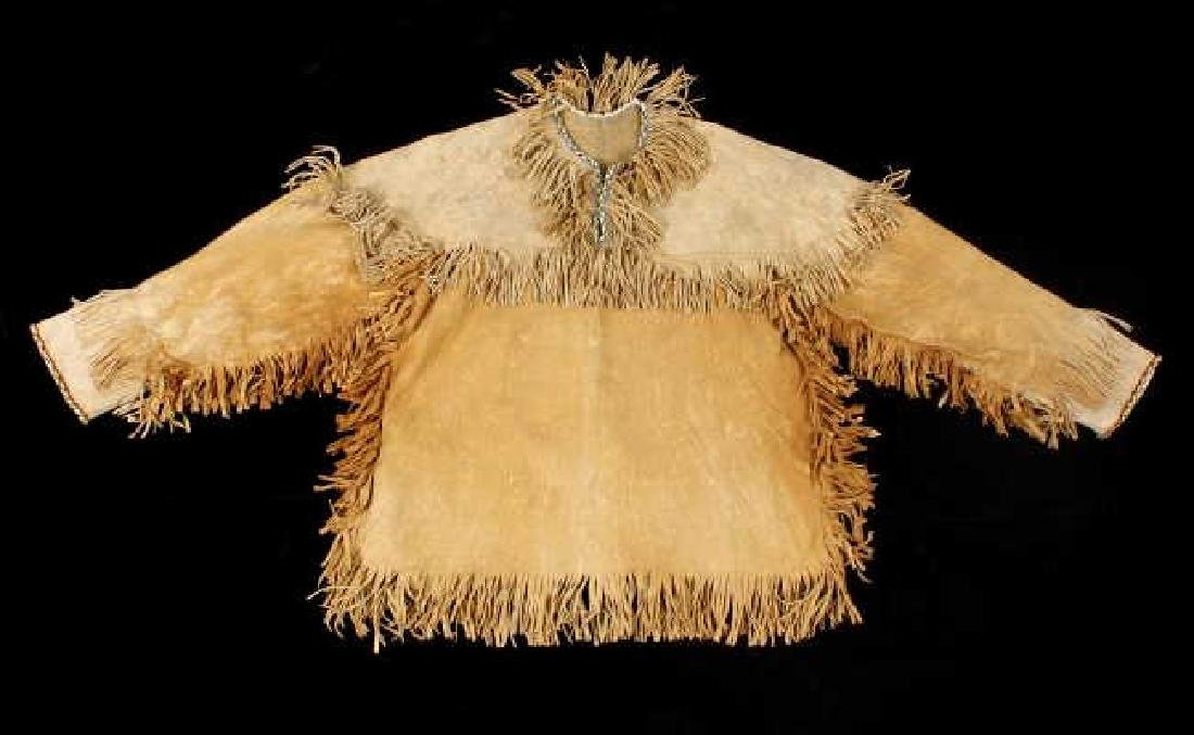 Sioux Indian Beaded Tanned Hide Scout Shirt