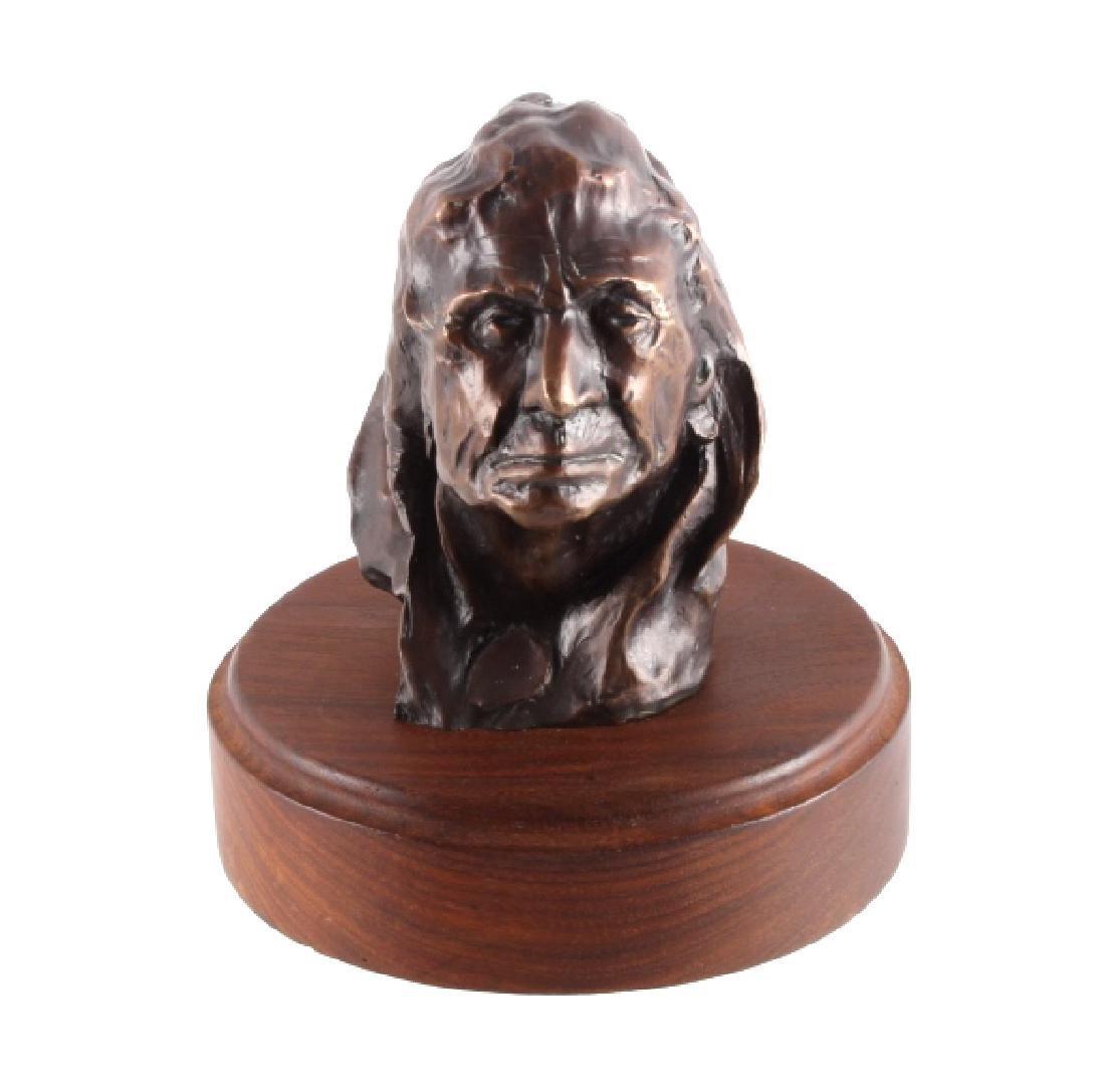 Original Ace Powell Blackfoot Brave Bronze