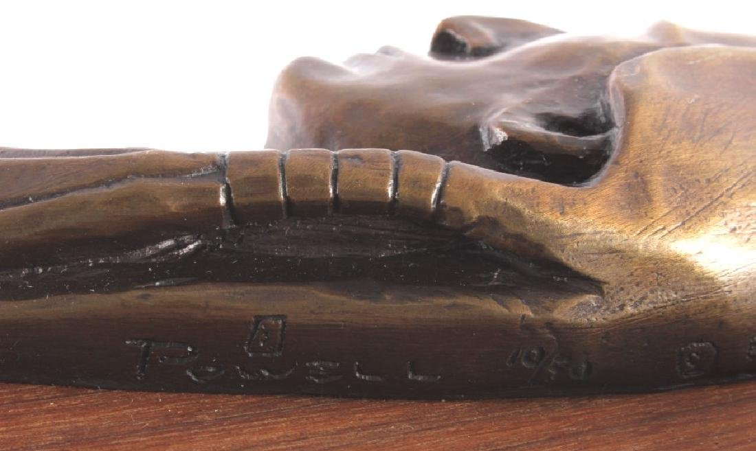 Original Ace Powell Bronze Indian Relief Sculpture - 7