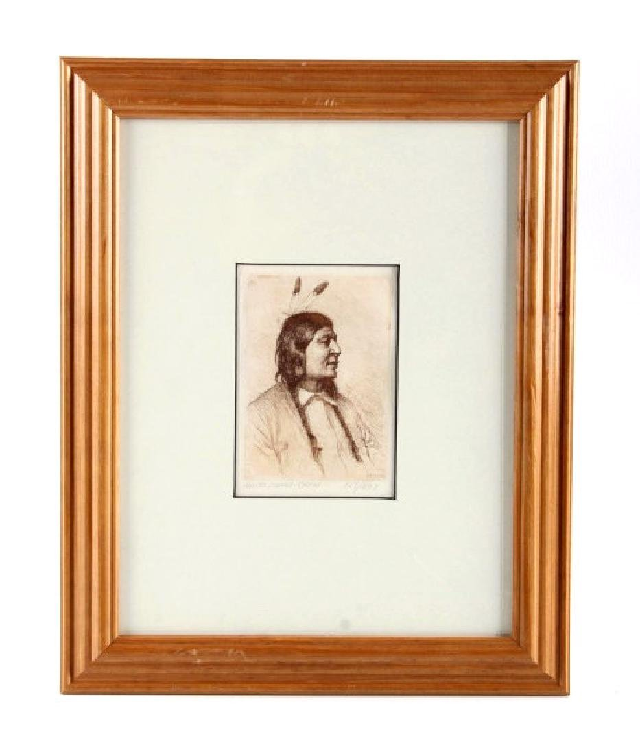 Original Joseph Henry Sharp Framed Etching
