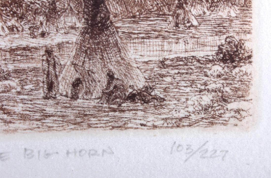 Original Joseph Henry Sharp Framed Etching - 6