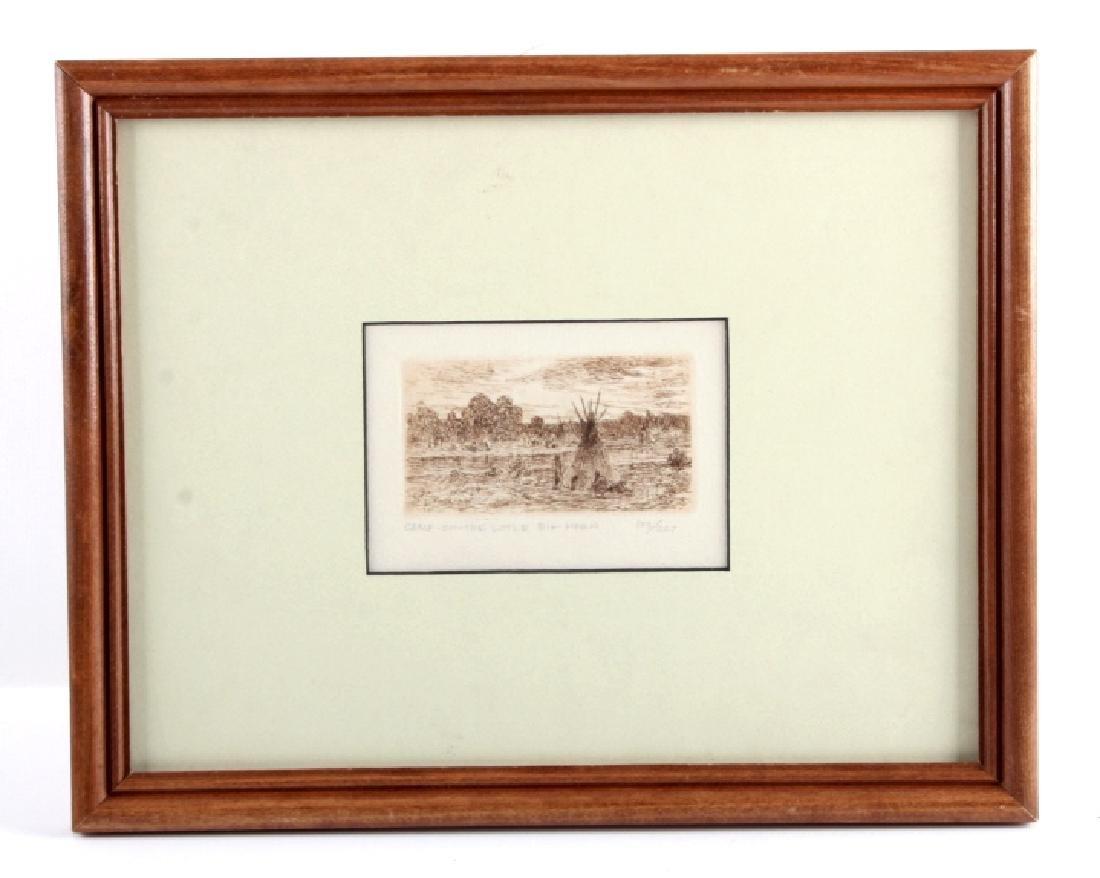 Original Joseph Henry Sharp Framed Etching - 9