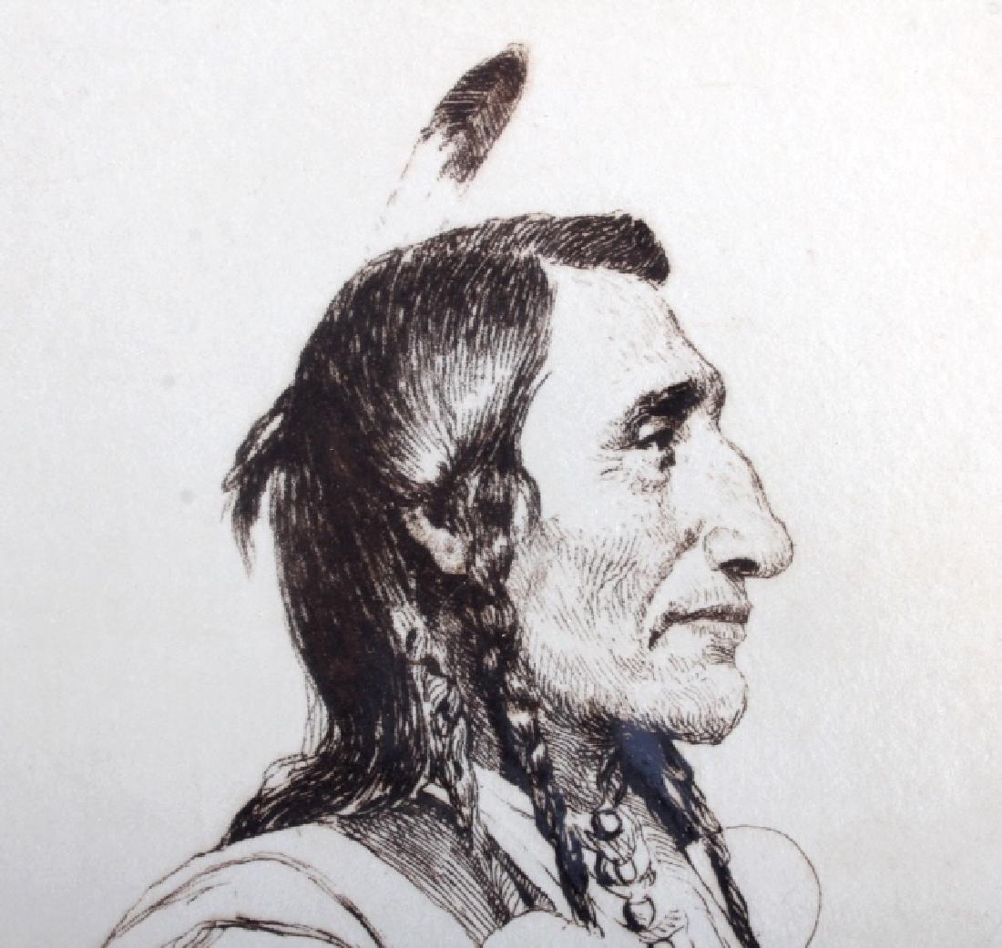Original Joseph Henry Sharp Framed Etching - 4