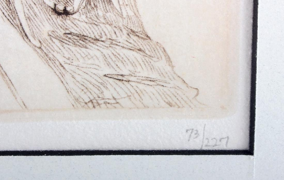 Original Joseph Henry Sharp Framed Etching - 7