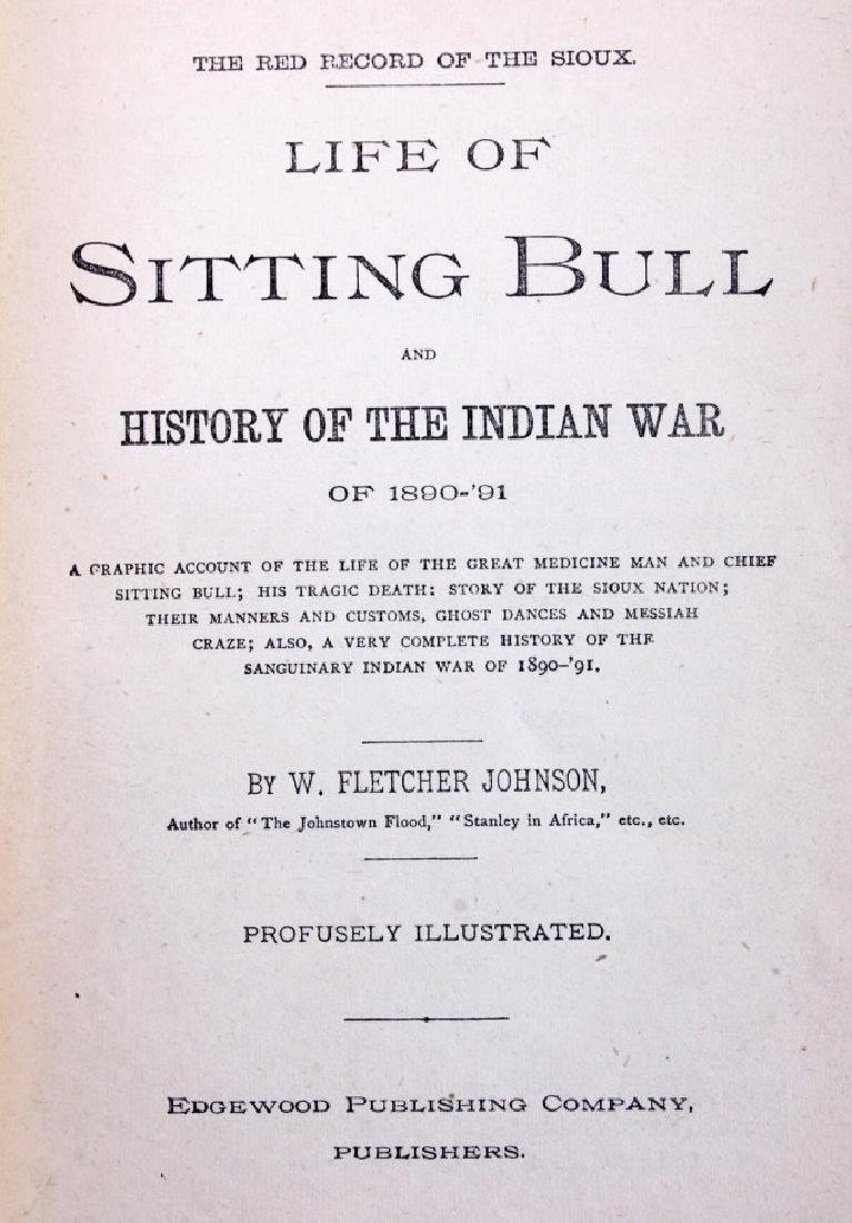 Sitting Bull and the Indian War Book 1st Edition - 3