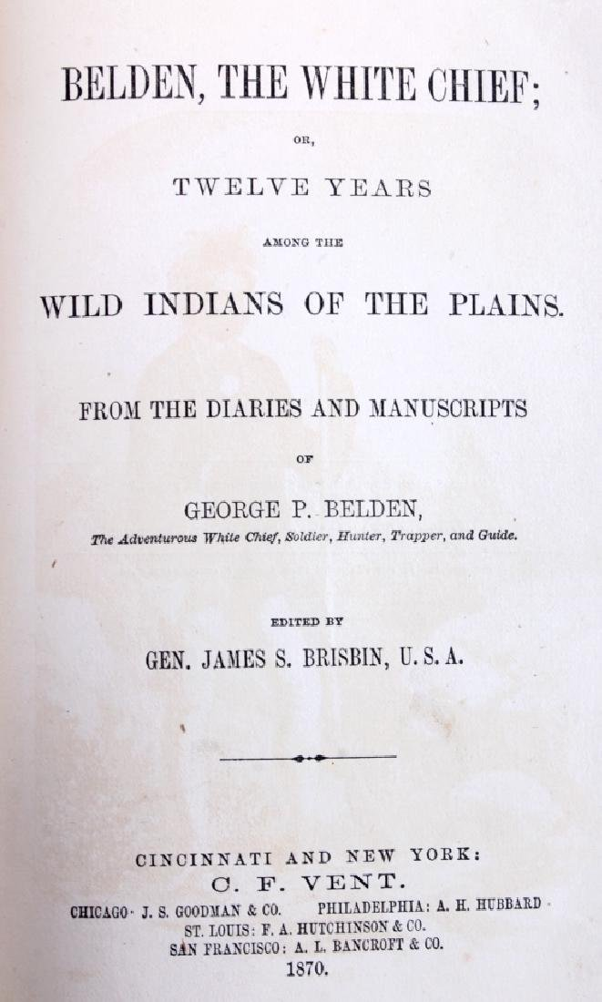 Belden the White Chief First Edition 1870 - 3