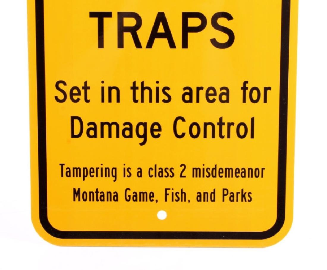 Montana Game, Fish, & Parks Bear Trap Sign - 3