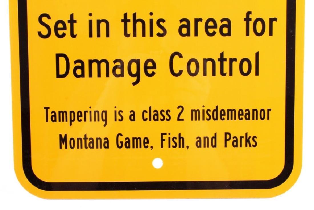 Montana Game, Fish, & Parks Bear Trap Sign - 5